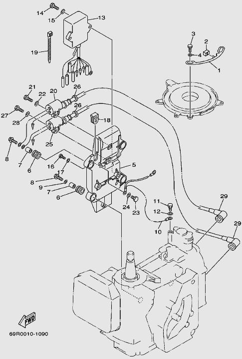 Запчасти электрической системы для лодочного мотора T30 Sea-PRO