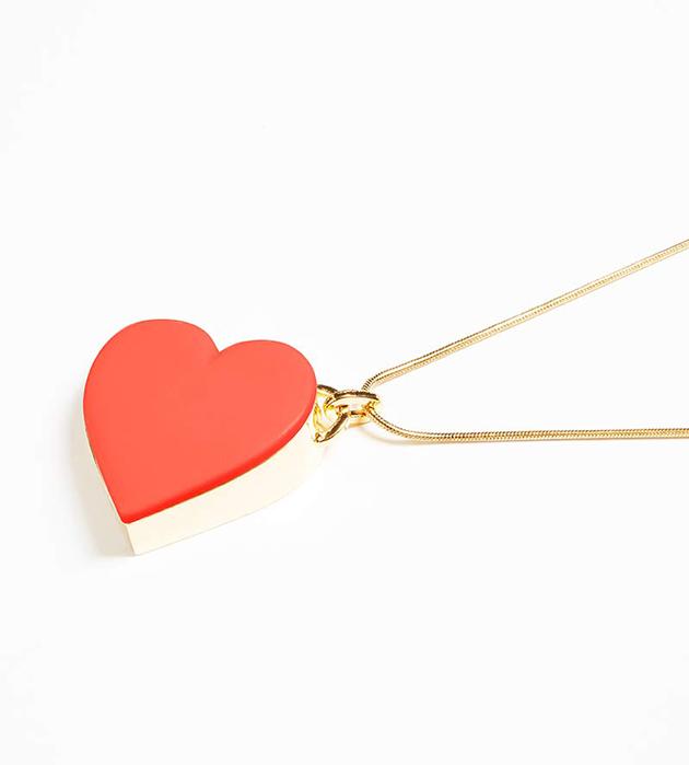 купите оригинальное колье Single Heart Red от ANDRES GALLARDO