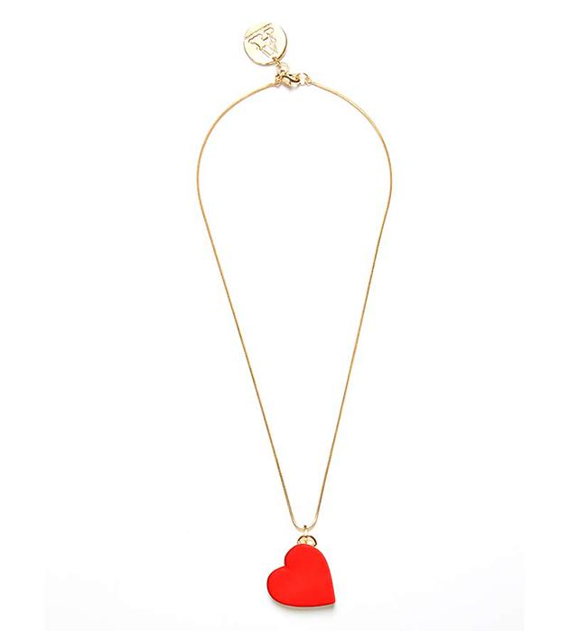 стильное колье ручной работы от ANDRES GALLARDO - Single Heart Red