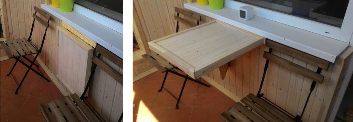 откидной столик на балкон купить
