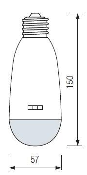 Размеры аварийной светодиодной аккумуляторной лампы HL-310