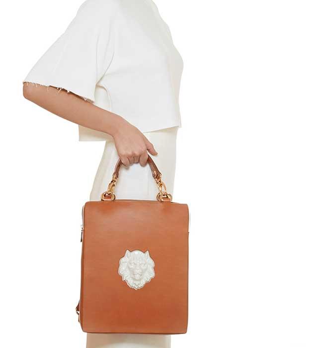 купите элегантная сумка-рюкзак из кожи от ANDRES GALLARDO - Bagpack Lion Bag Caramel