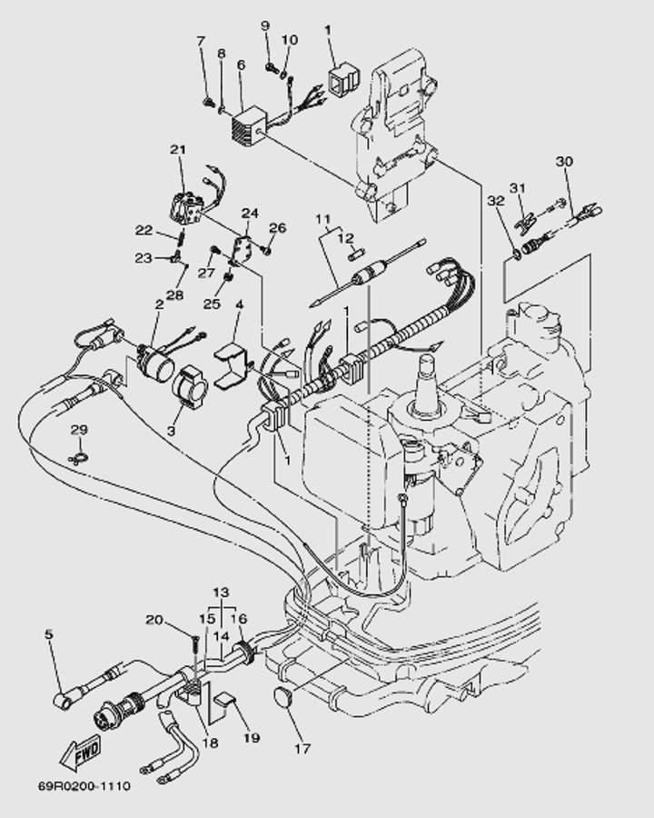 Запчасти электрики для лодочного мотора T30 Sea-PRO