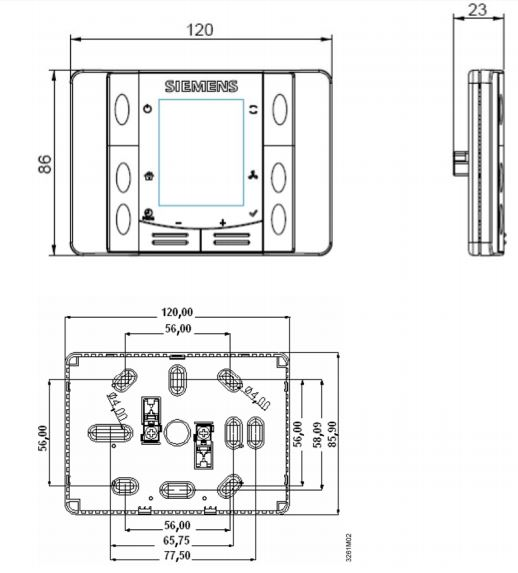 Размеры Siemens POL822.60/STD