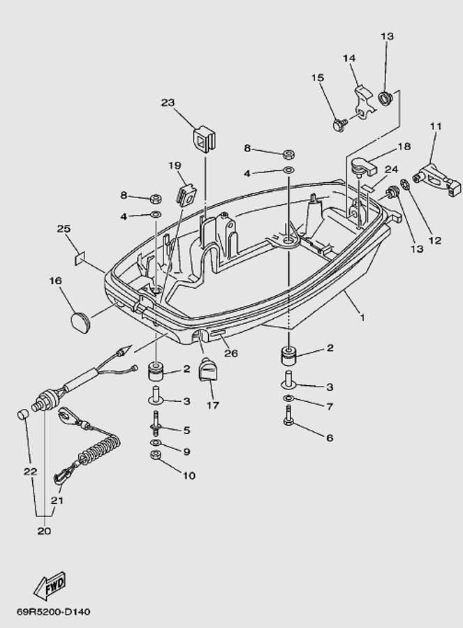 Запчасти поддона для лодочного мотора T30 Sea-PRO