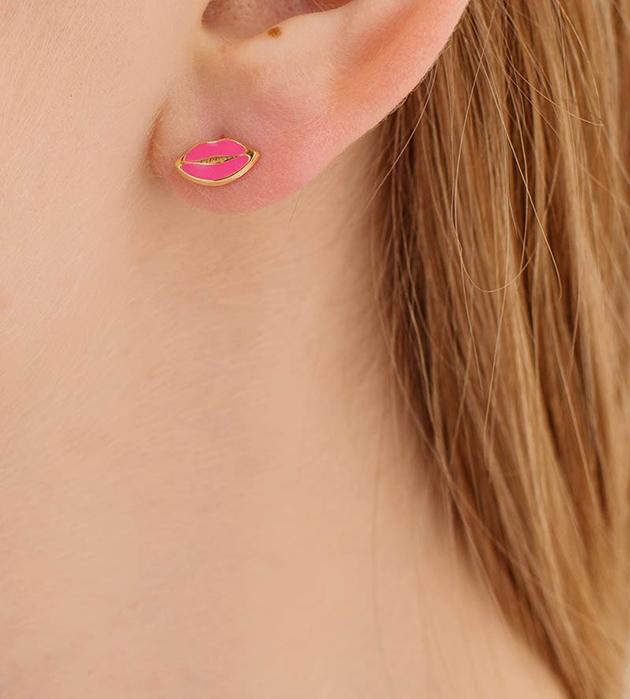 купите ироничные серьги-гвоздики Eye&Lips от Maria Francesca Pepe