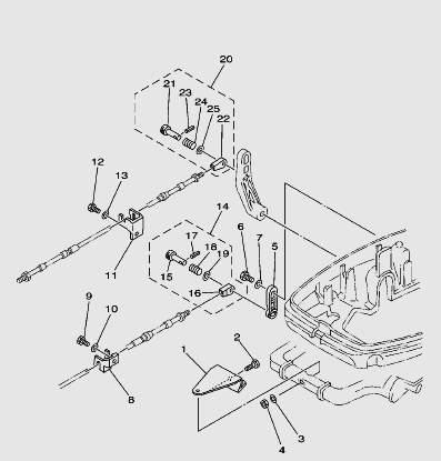 Запчасти системы управления лодочного мотора T30 Sea-PRO