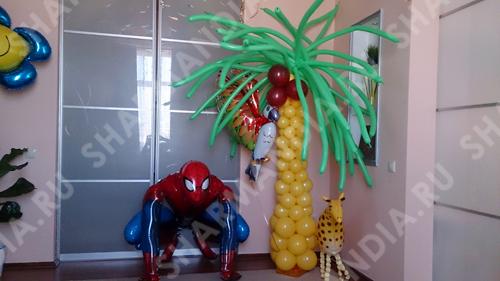 пальма из шаров фото