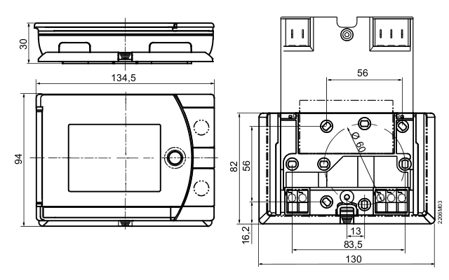 Размеры контроллера Siemens REV24RF/SET