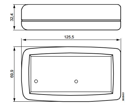Размеры сервисного комплекта для KNX/LPB Siemens_OCI700.1