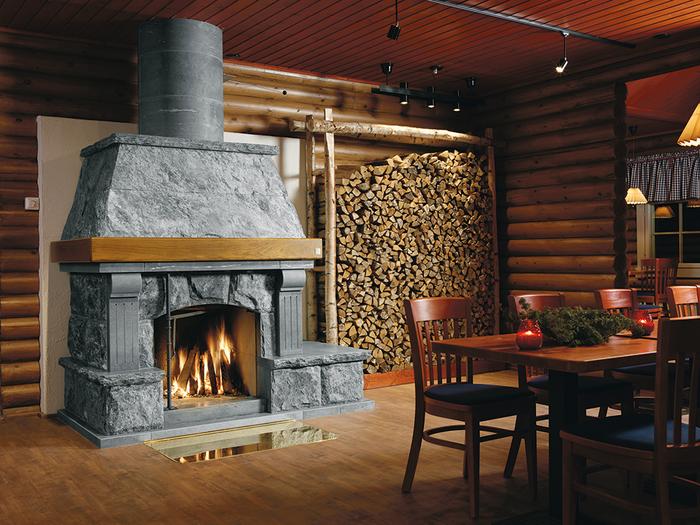 запас дров для камина