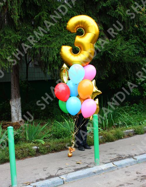 Букет из шаров с цифрой