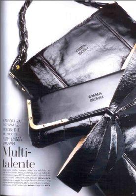 Черный клатч и сумка Emma Brown в Vogue