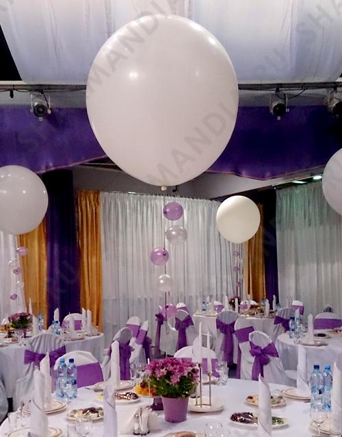 большие шары на свадьбу фото