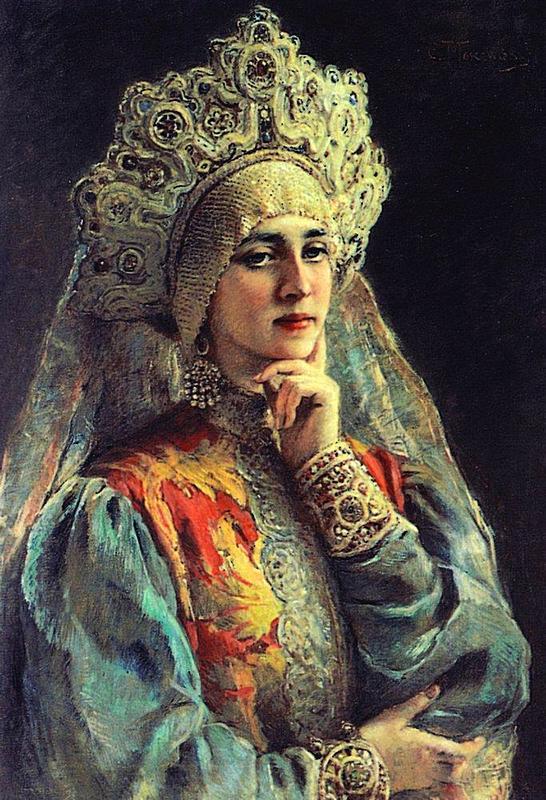 русская красавица в кокошнике картинки
