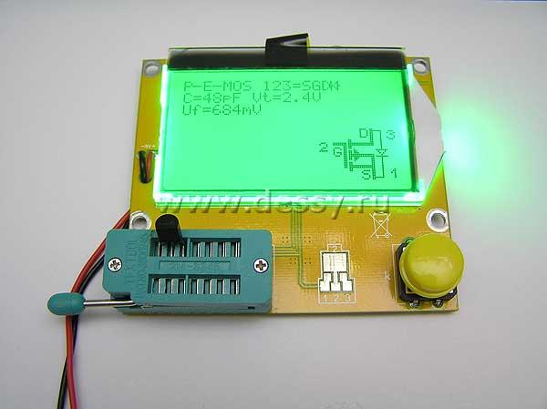 """Модуль RI011. Прибор для качественной оценки радиокомпонентов """"Транзистор тестер"""""""