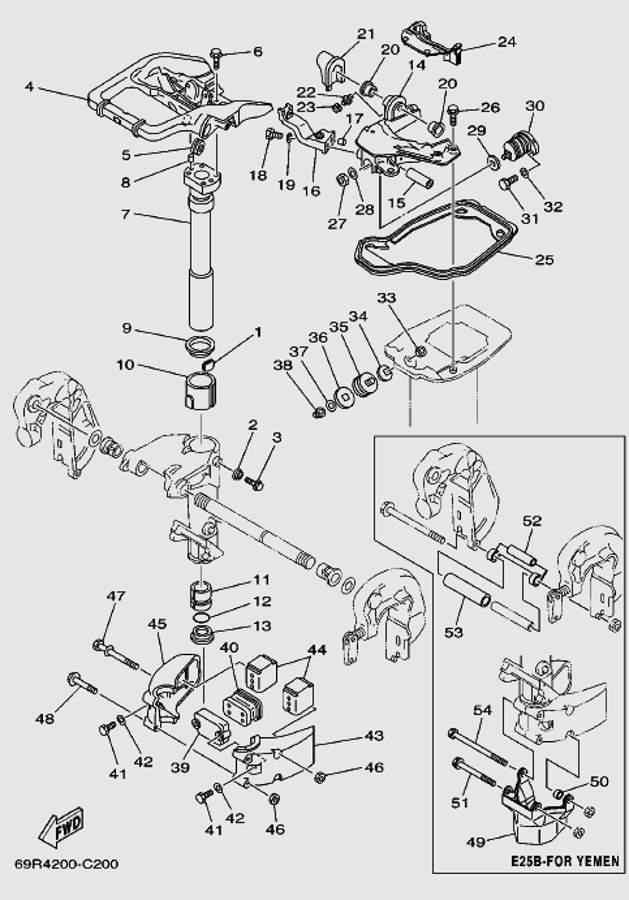 Запчасти системы крепления для лодочного мотора T30 Sea-PRO