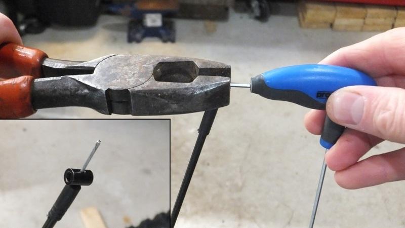 Фиксация бонки на тросе