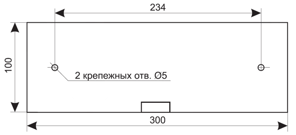Установочные размеры для светового табло выход 220в с аккумулятором ЛЮКС-220-Р