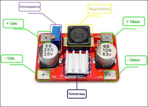 Модуль RP035 - Регулируемый повышающий преобразователь напряжения. Вход 3,5-35 В, выход 5-56 В. (LM2577)