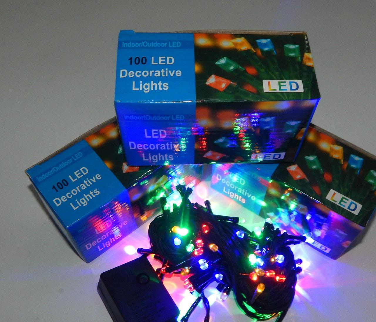 Гирлянда линзовая Нить LED 100 мульти