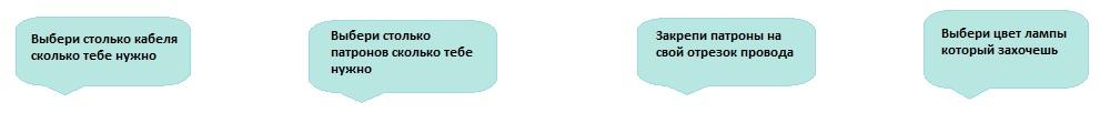 Схема монтажа гирлянды Белт Лайт