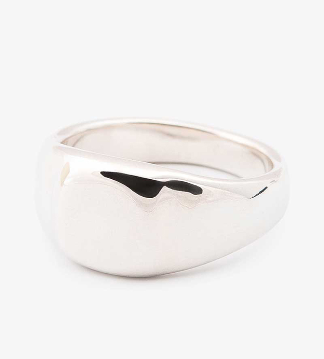 стильное кольцо-печатка из серебра Square Silver signet ring от Helena Rohner