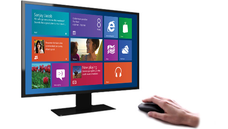 Быстрый доступ к начальному экрану Windows 8