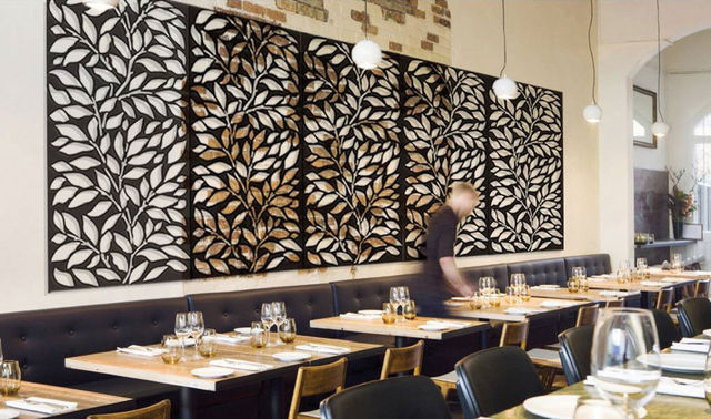 декоративные перегородки в кафе