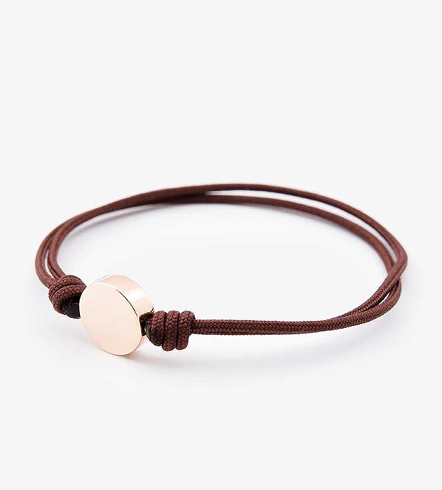 браслет-фенечка Disc Chocolate в стиле casual oт Helena Rohner
