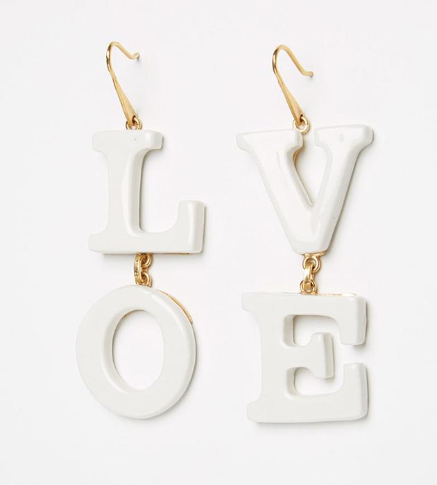 купите эффектные серьги белоснежно-золотистого цвета от ANDRES GALLARDO - Love earrings white