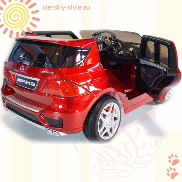 лектромобиль mercedes benz ml63, joy automatic, купить, цена, детский электромобиль ml63, мерседес, резиновые колеса, стоимость, заказ, заказать, москва, россия, бесплатная доставка