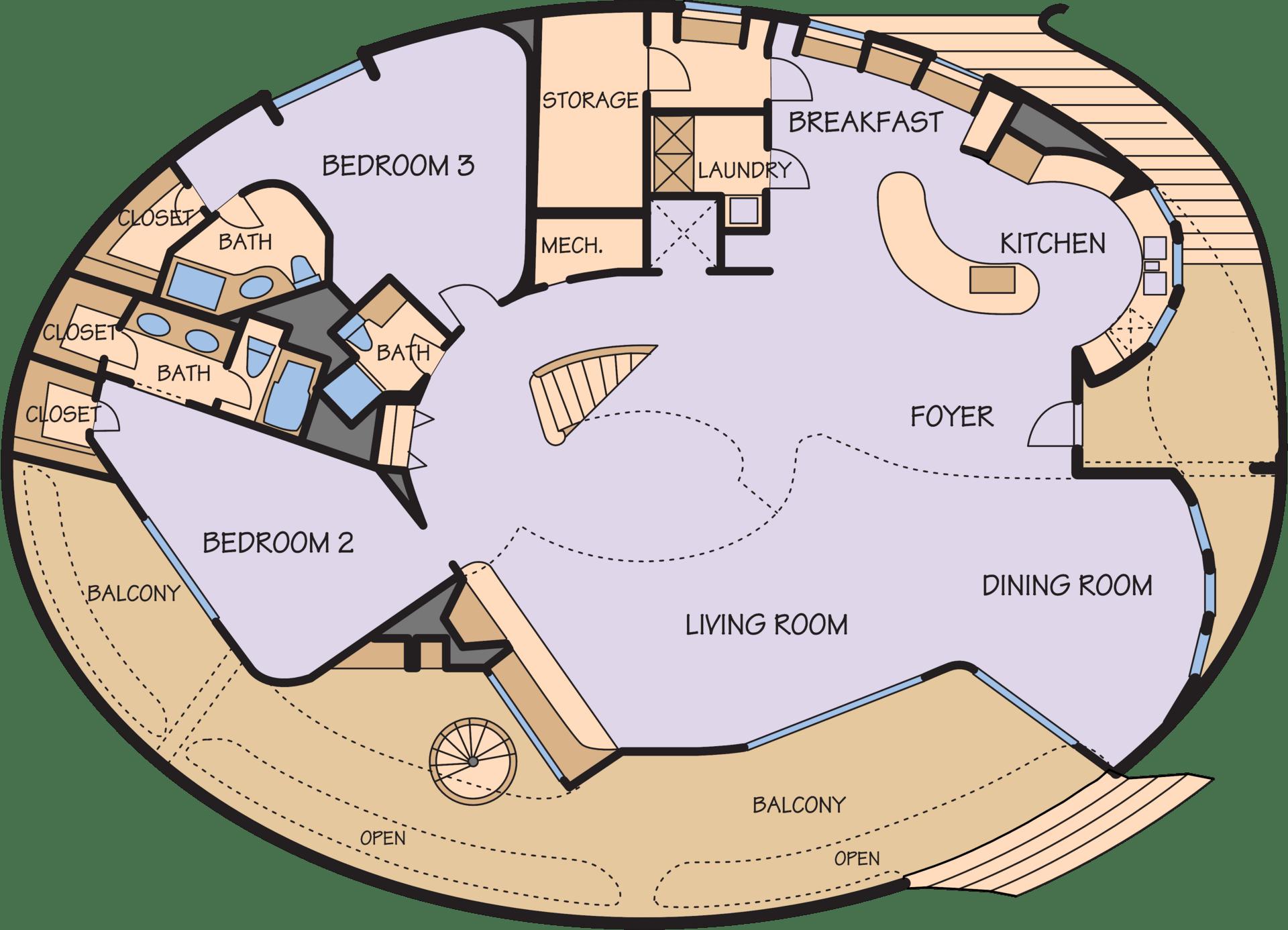 план купольного дома