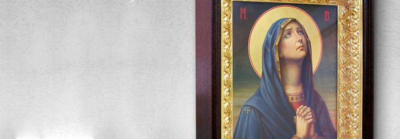 Икона<b>«Божья Матерь Неупиваемая Чаша»</b>серебряная с золотом