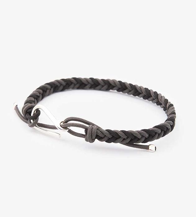 плетённый серо-чёрный браслет Clasp Grey&Black oт Helena Rohner