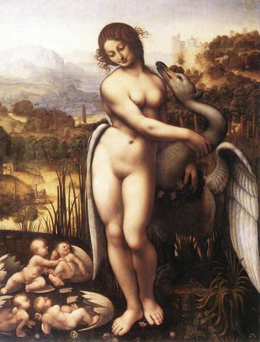 Леонардо Да Винчи — Леда и лебедь