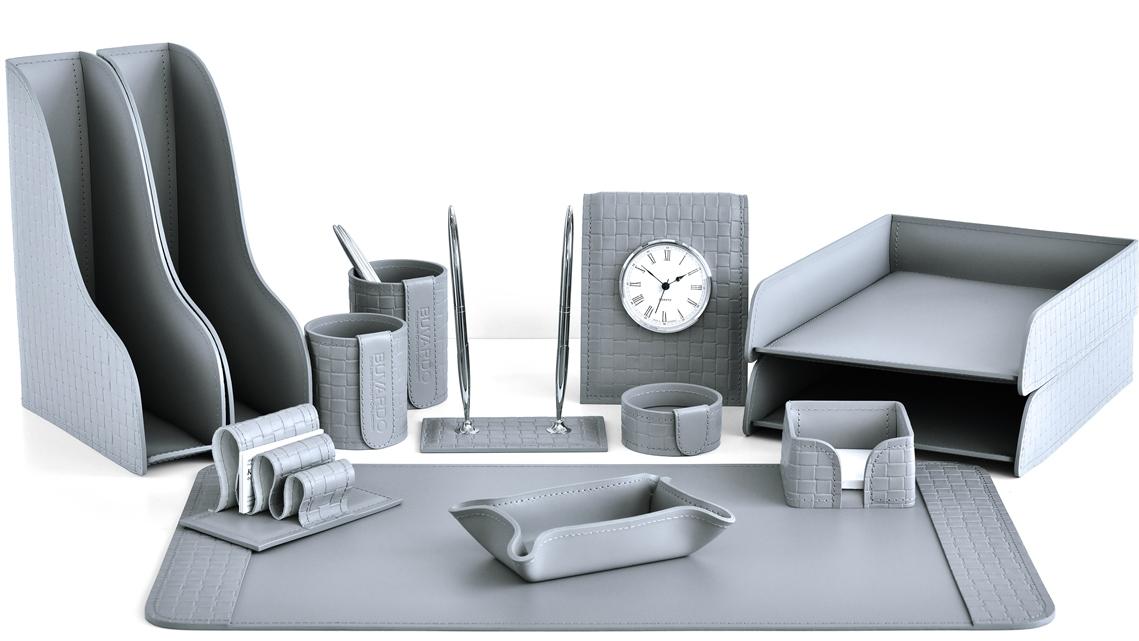 Серый цвет кожи в разделе наборов на стол руководителя серии Бизнес.