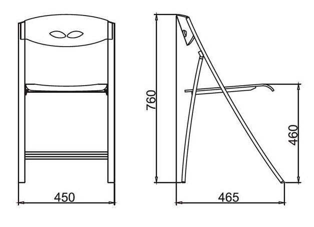 Размеры Стула C3415P