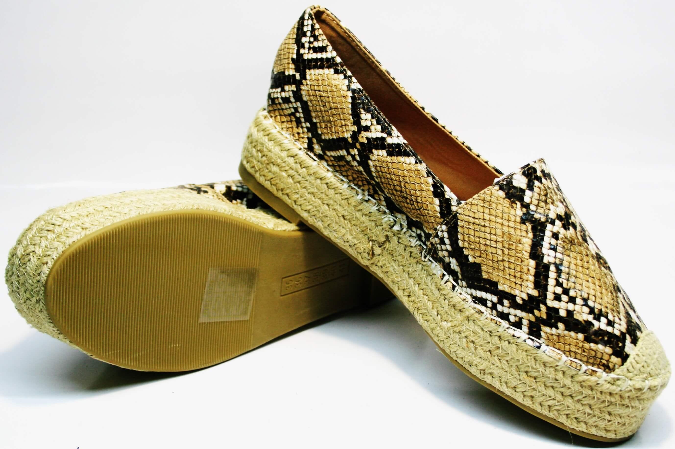 3193dc0d Модные эспадрильи на платформе 3 см Lilyshoes Q-38snake - женские летние  туфли на платформе в этническом стиле. Производители