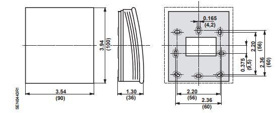 Размеры Siemens QPA1000