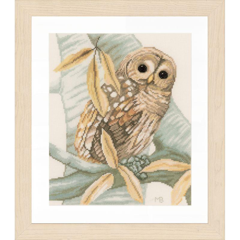 Новинка lanarte 2016, сова на ветке