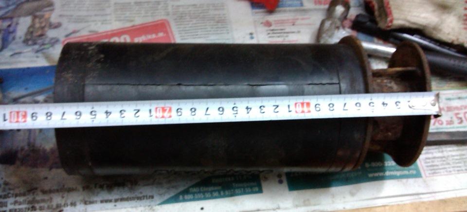 Длина баллона + кронштейн — 28 см +/- 5 мм из-за непараллельности плоскостей кронштейна. Однако, всё должно получиться