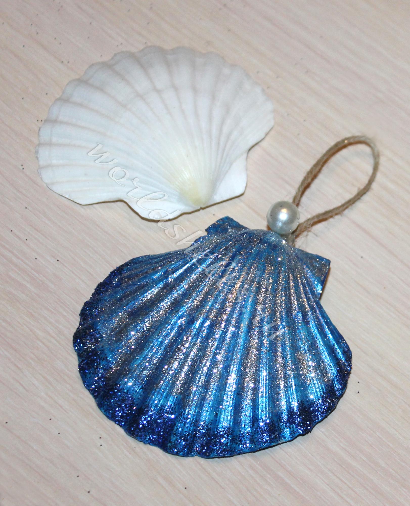 Елочная игрушка на елку из морской ракушки