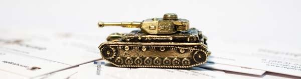Модель танка в миниатюре