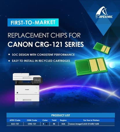 Чипы для Canon 121