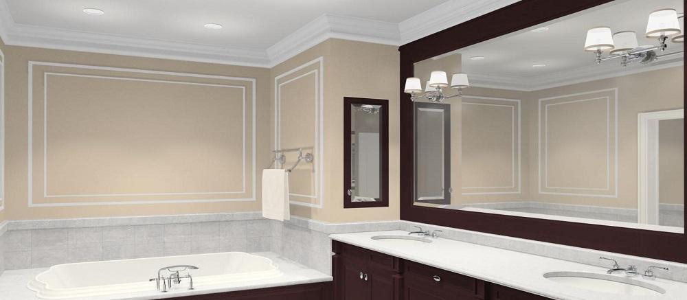 Большое зеркало для ванной комнаты