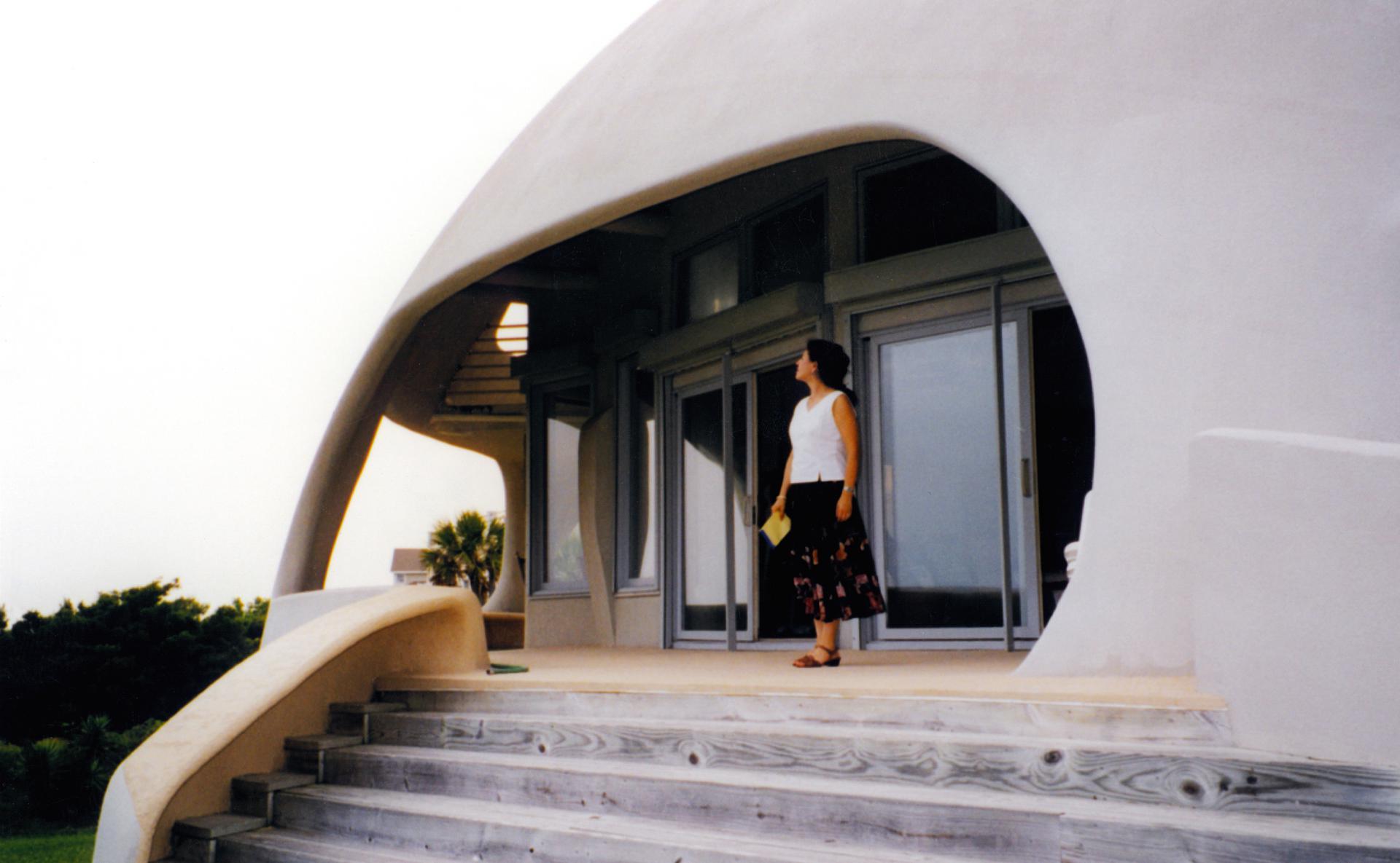 купольный дом вход