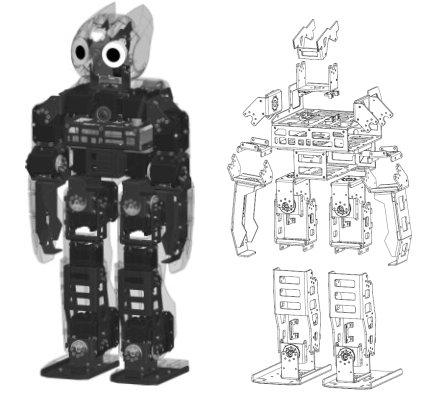 Механическая конструкция DARwIn-OP