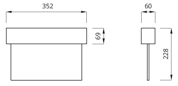 Размер двухстороннего аварийного светодиодного светильника выход Escape LED Awex