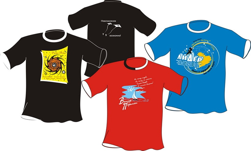 Печать на футболках методом шелкографии